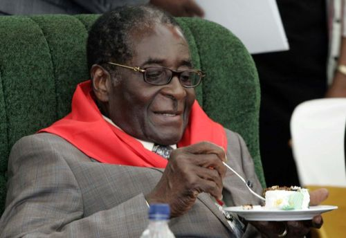 Robert Mugabe at his 85th birthday celebrations