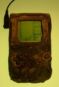 Gameboy that survived the Gulf War - even soldiers need Tetris.